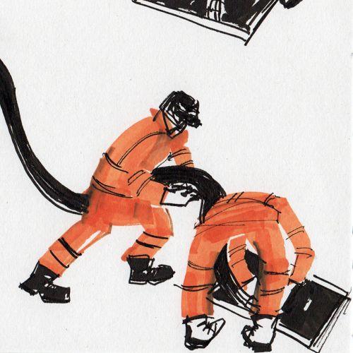Alyana Cazalet International expressive line illustrator. London