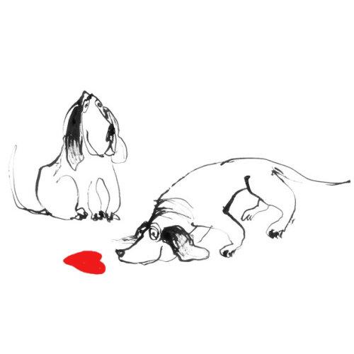 Ilustração de cães dos desenhos animados por Alyana Cazalet