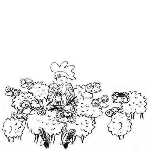 Ilustração de ovelhas dos desenhos animados por Alyana Cazalet