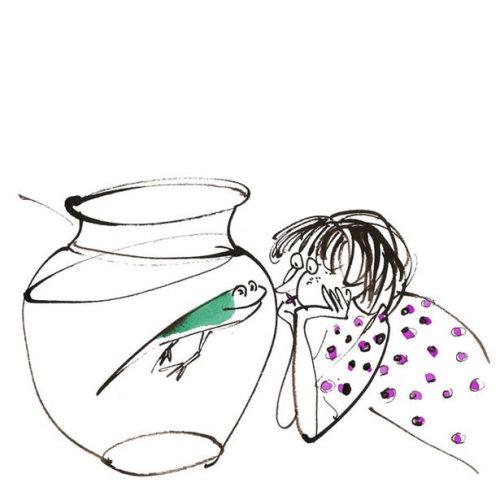 ilustração em quadrinhos sapo e menina