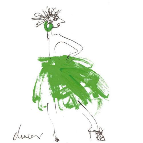 Female dancer - Cartoon illustration by Alyana Cazalet