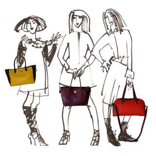 Group of fashion ladies - Line artwork