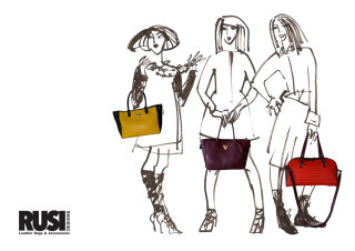 Group of fashion ladies - Line artwork