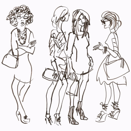 Grupo de senhoras da moda
