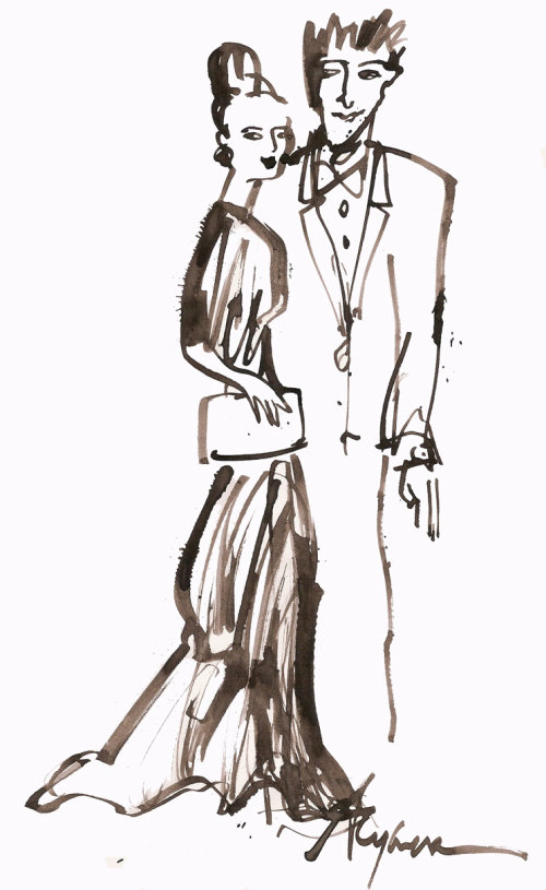 Couple glamour sketch