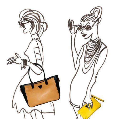 Women fashion bags illustration