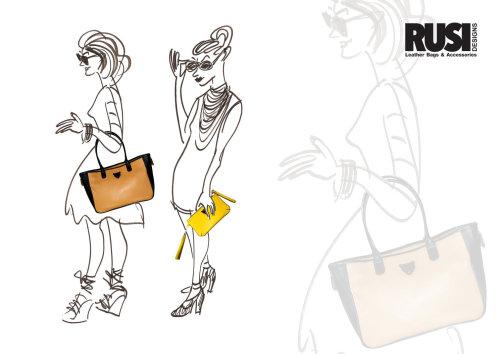 Ilustração de sacos de moda feminina