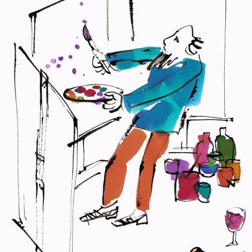 Comic painter illustration by Alyana Cazalet