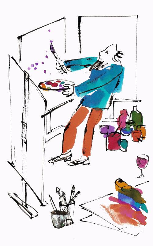 Illustration de peintre comique par Alyana Cazalet