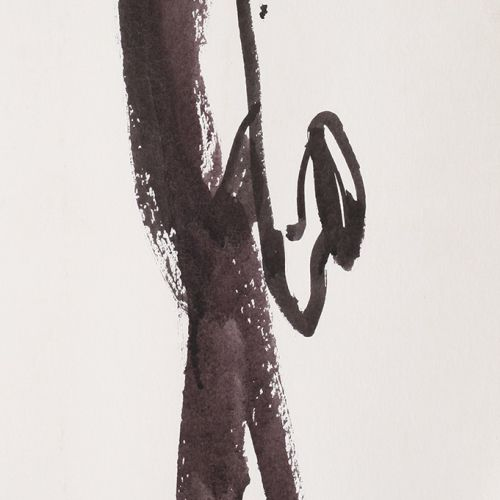 Sax player illustration by Alyana Cazalet