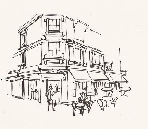 Londres coloca ilustração de Alyana Cazalet