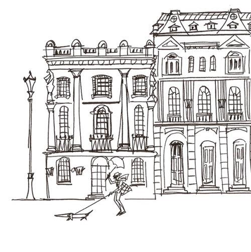 Ilustração de Londres por Alyana Cazalet