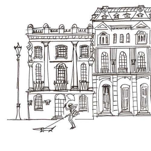 Illustration de Londres par Alyana Cazalet