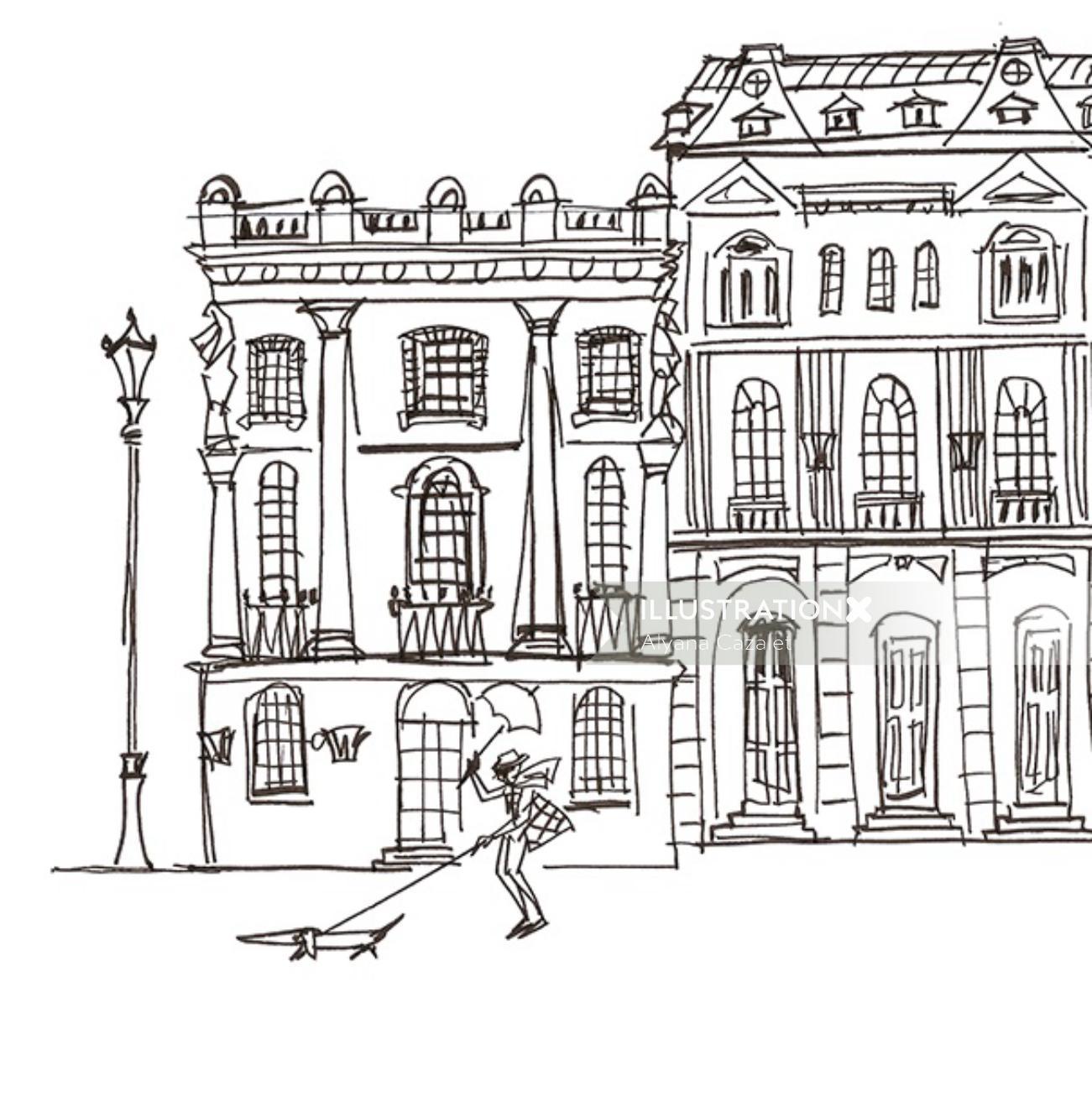 London illustration by Alyana Cazalet