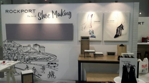 Mural Illustration For Rockport Shoe Making