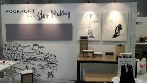 Illustration murale pour la fabrication de chaussures Rockport