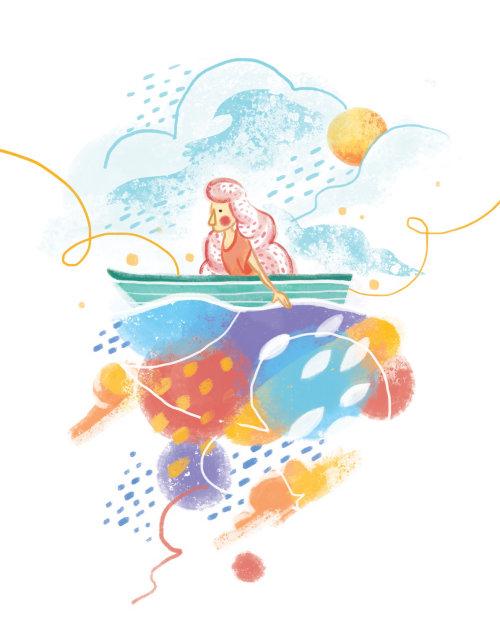 Oeuvre en ligne d'une dame nautique
