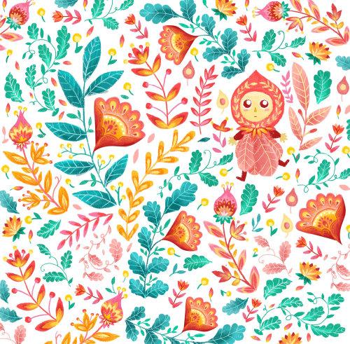 Textile design by Filipino based illustrator