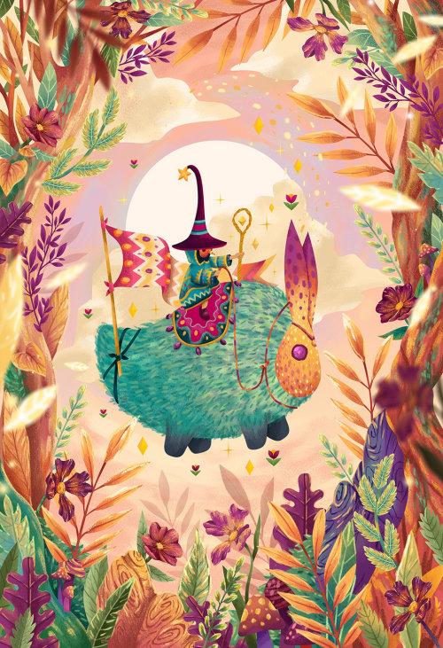 Ilustração infantil do mago