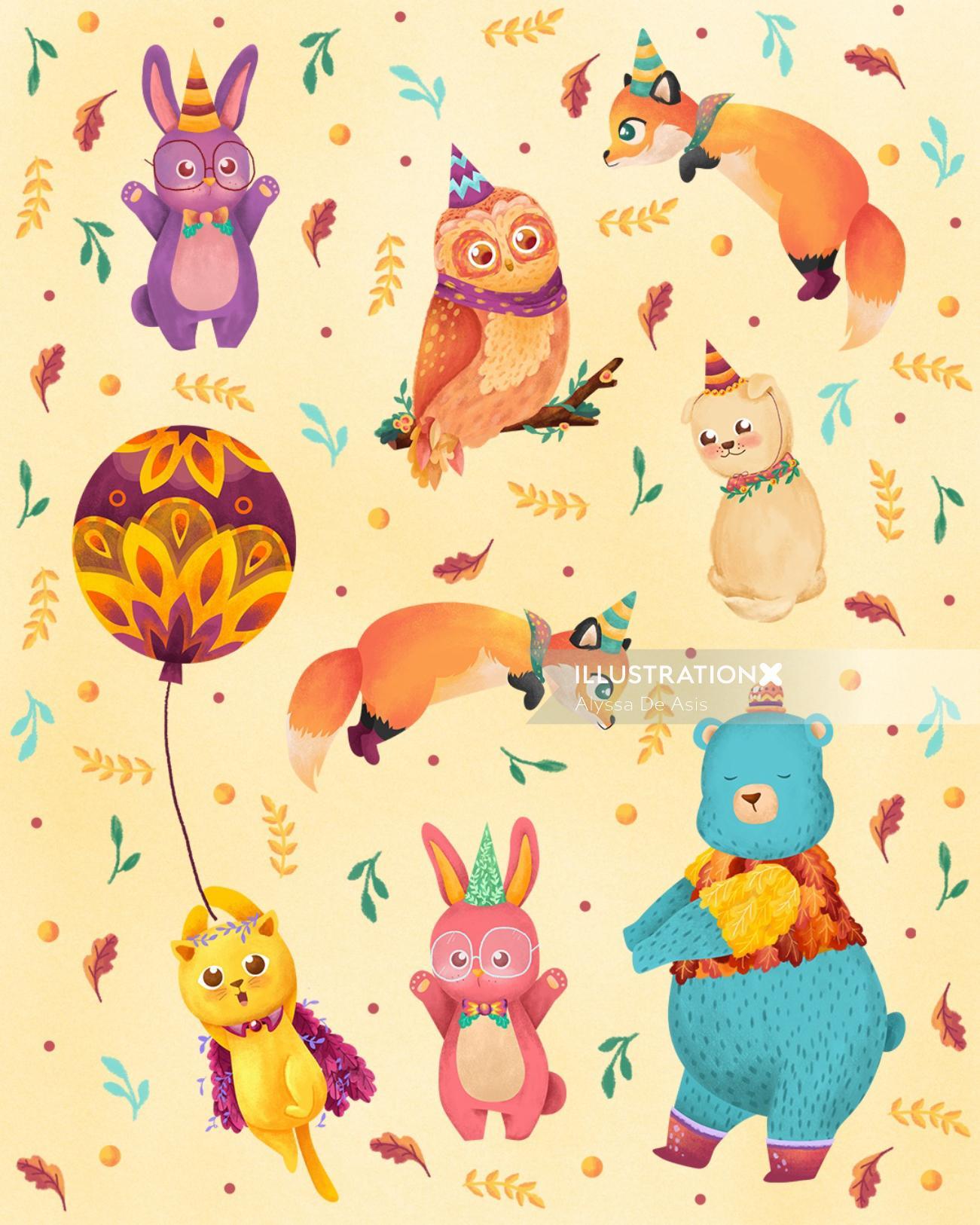Animals pattern design