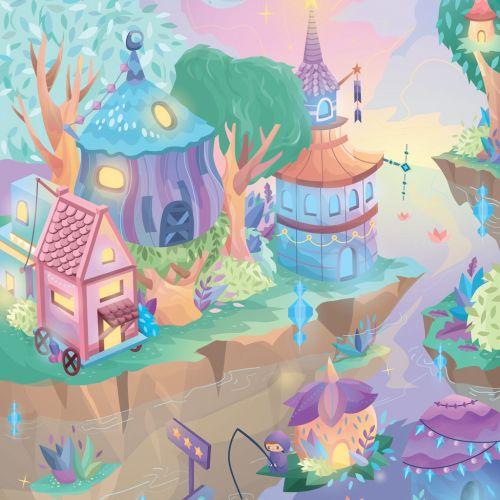 Fantasy illustration of magical world