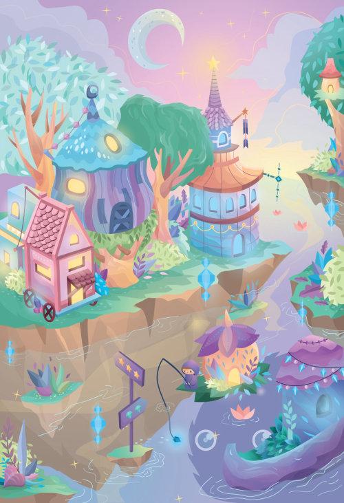 Illustration fantastique du monde magique