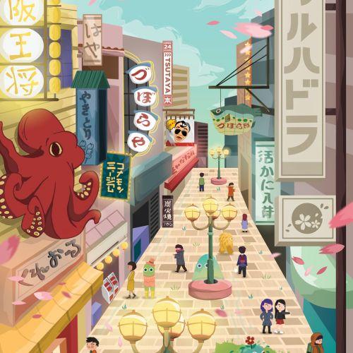 Street scene artwork by Filipino based illustrator