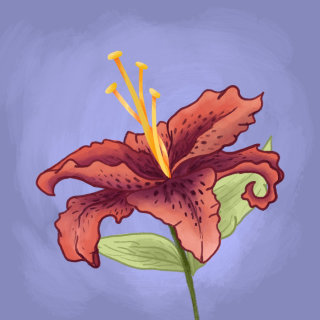 Digital painting of a flower
