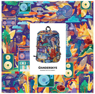 Wanderskye Backpack Cover design by Alyssa De Asis