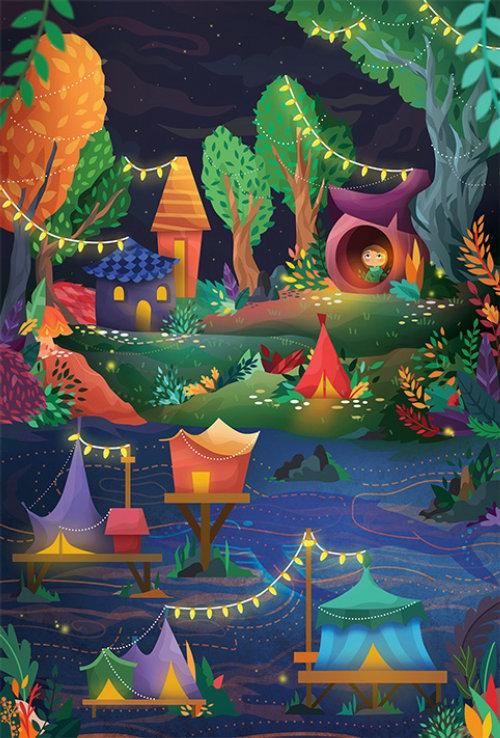 Parc d'animation pour enfants
