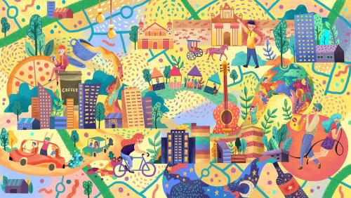 Plan éditorial de la ville
