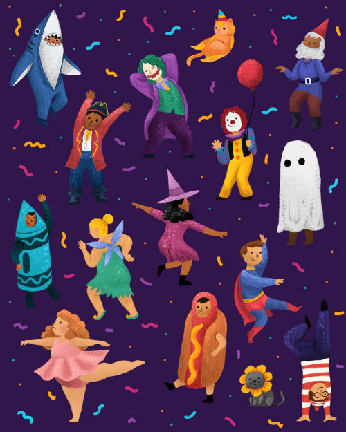 Festa de Halloween e animação de fantasia para crianças