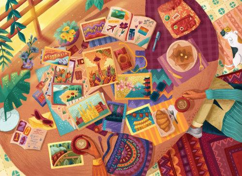 Collage de cartes enfants