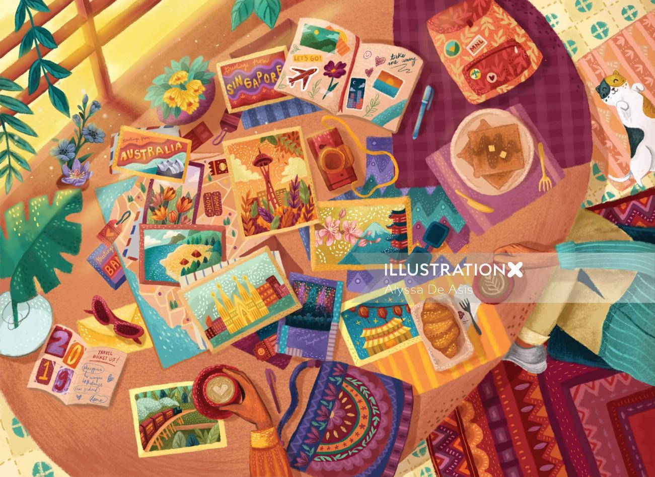 Children cards collage
