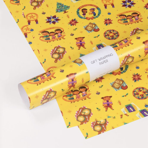 Papier d'emballage cadeau décoratif