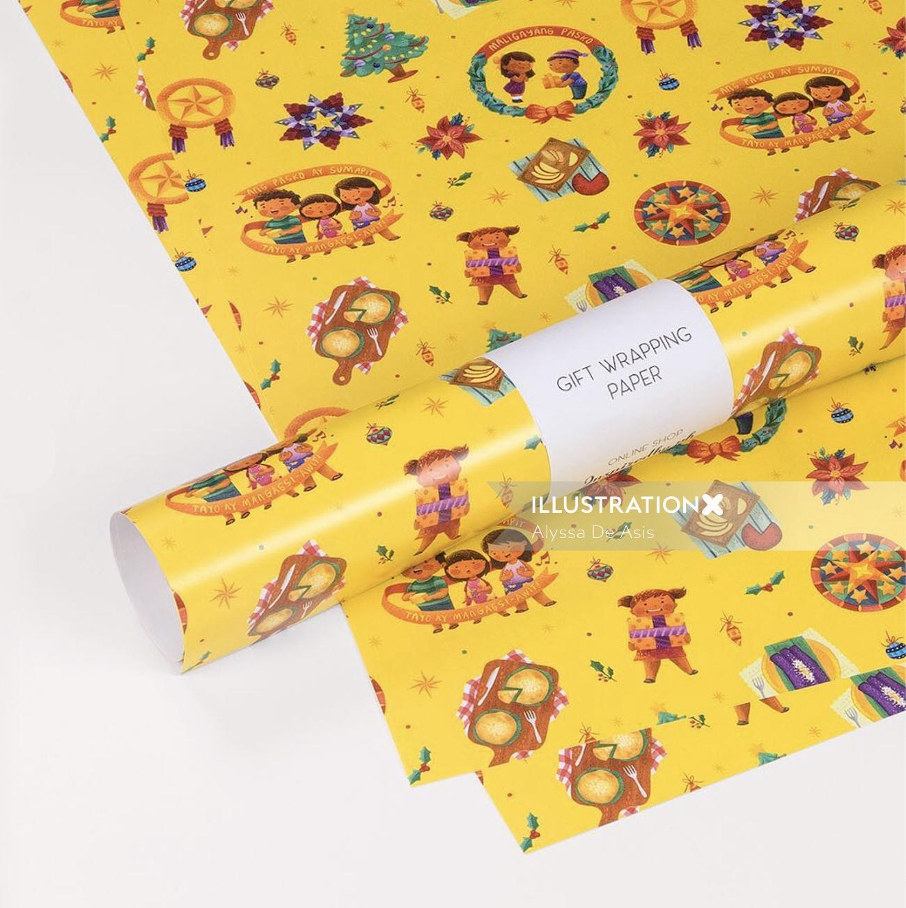 Decorative Gift Wrapping paper
