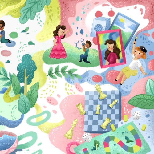 Children entertainment collage