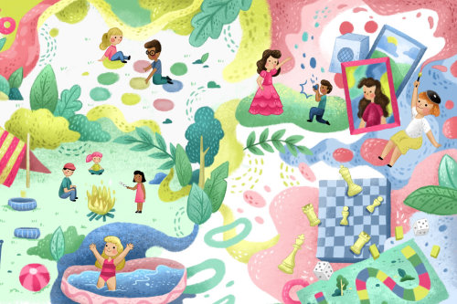 Collage de divertissement pour enfants