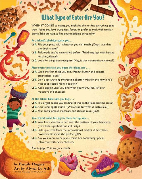 illustration décorative du quiz des habitudes alimentaires