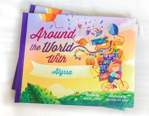 Illustration of Around the world book cover