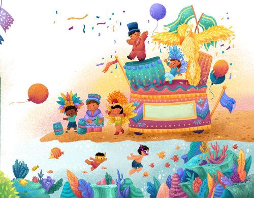 Children fun parade