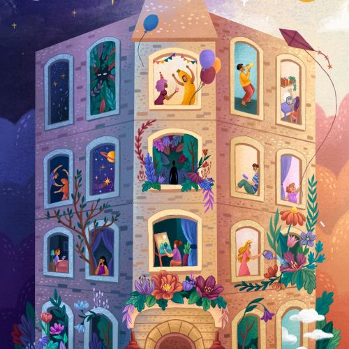 Children fantasy building