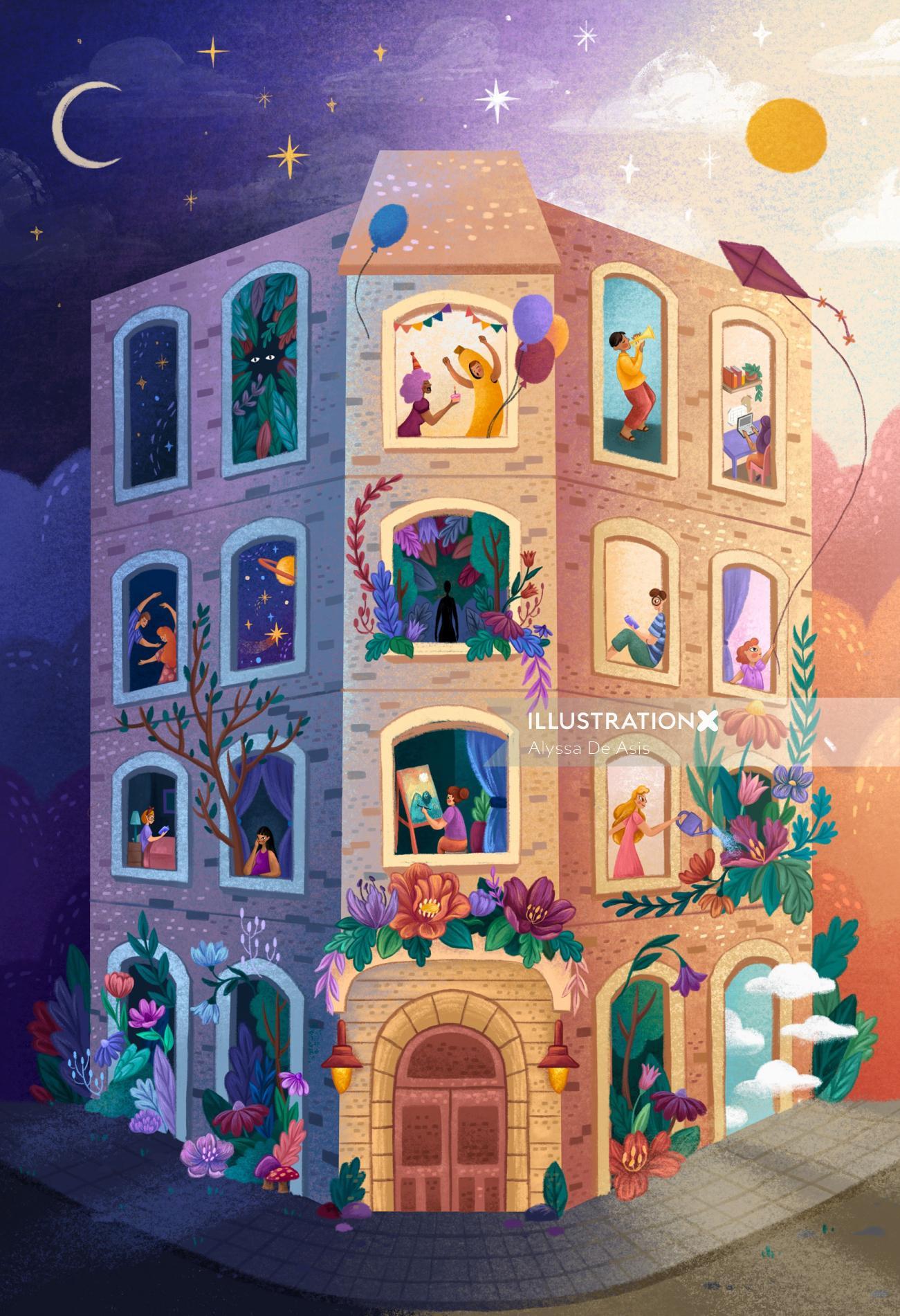 Children fantasy building