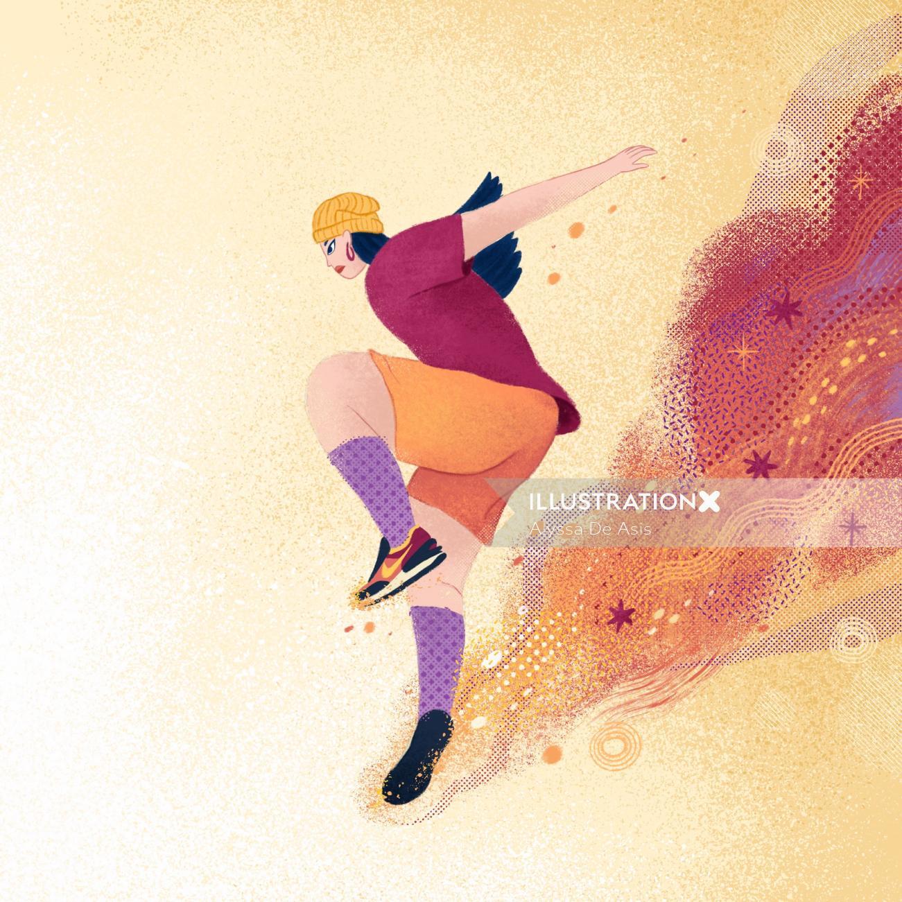 Sports man jumping