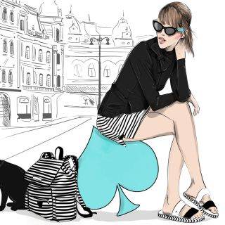 Woman Fashion Illustration For Kate Spade