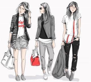 fashion, black, feminist, woman, female, accessories, patches, white, line, minimal, luxury, cat, lo