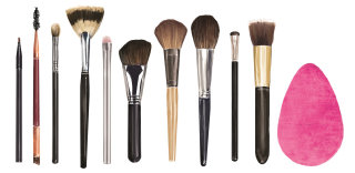 beauty, makeup, brushes
