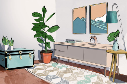 Apartment furniture Graphic Therapy story