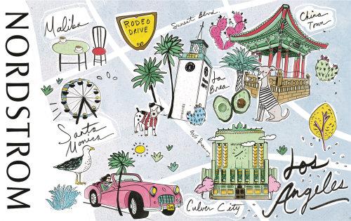 map, bright, fun, bold, colorful, inspirational, happy, california, gift, beach, malibu, cultural, l