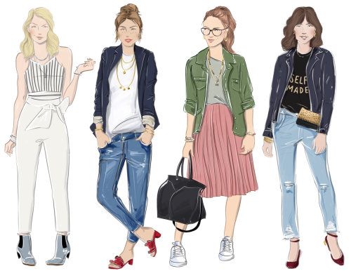 women, fashion, illustration